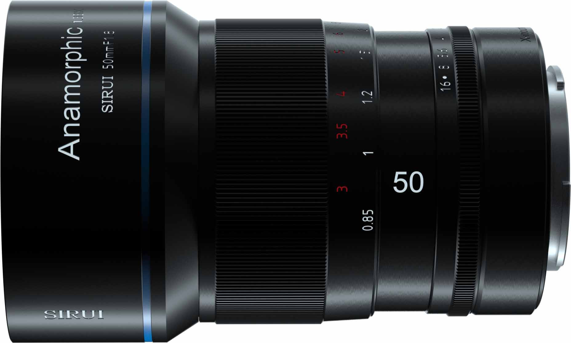 Sirui 50mm f/1.8 Anamorphic objektiiv Fujifilmile