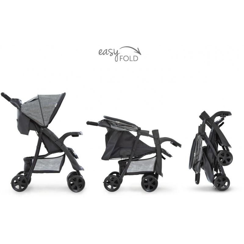 HAUCK ratiņi Shopper Neo II Melange grey/charcoal