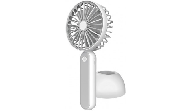 Platinet ventilaator akuga 1200mAh, valge/hall (45246)