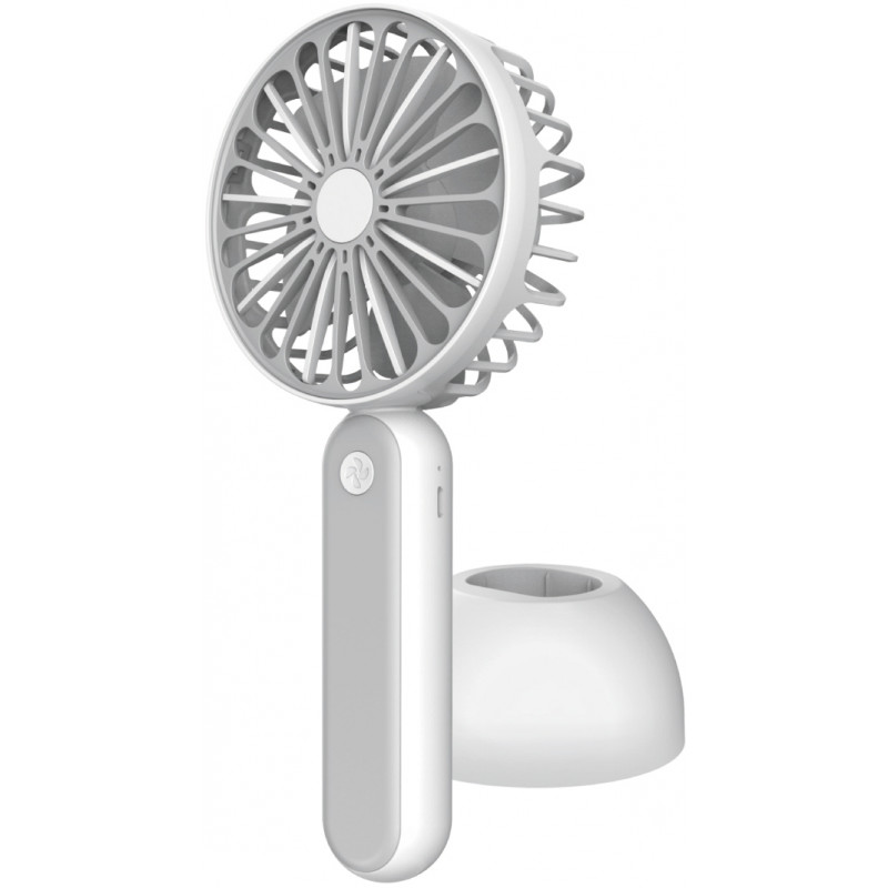 Platinet ventilaator akuga, valge/hall (45246)