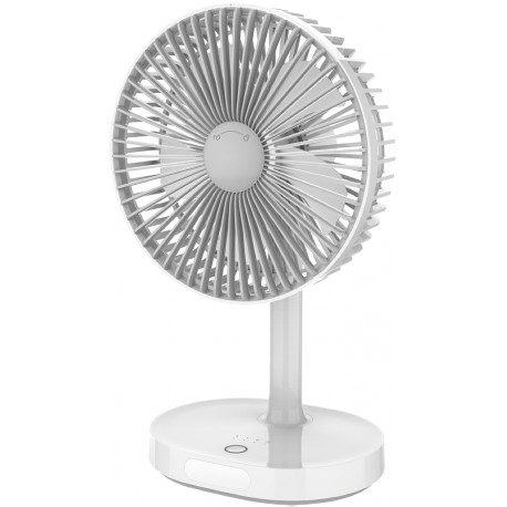 Platinet rechargeable fan 3000mAh, white/grey (45242)