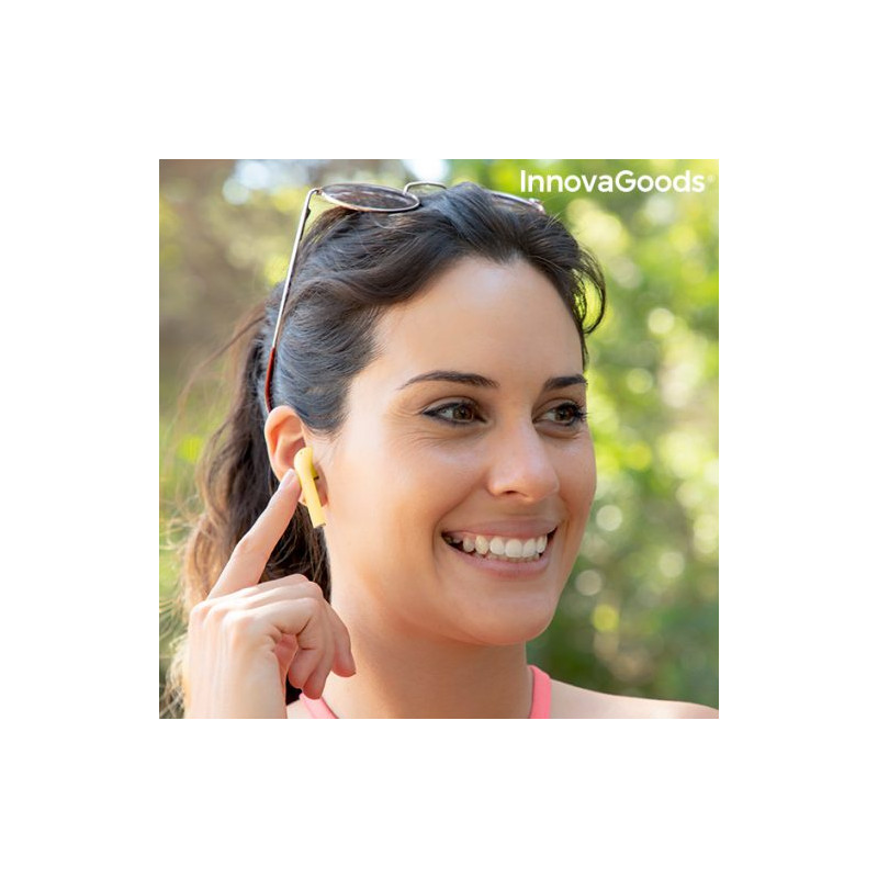 InnovaGoods juhtmevabad kõrvaklapid + mikrofon NovaPods, kollane