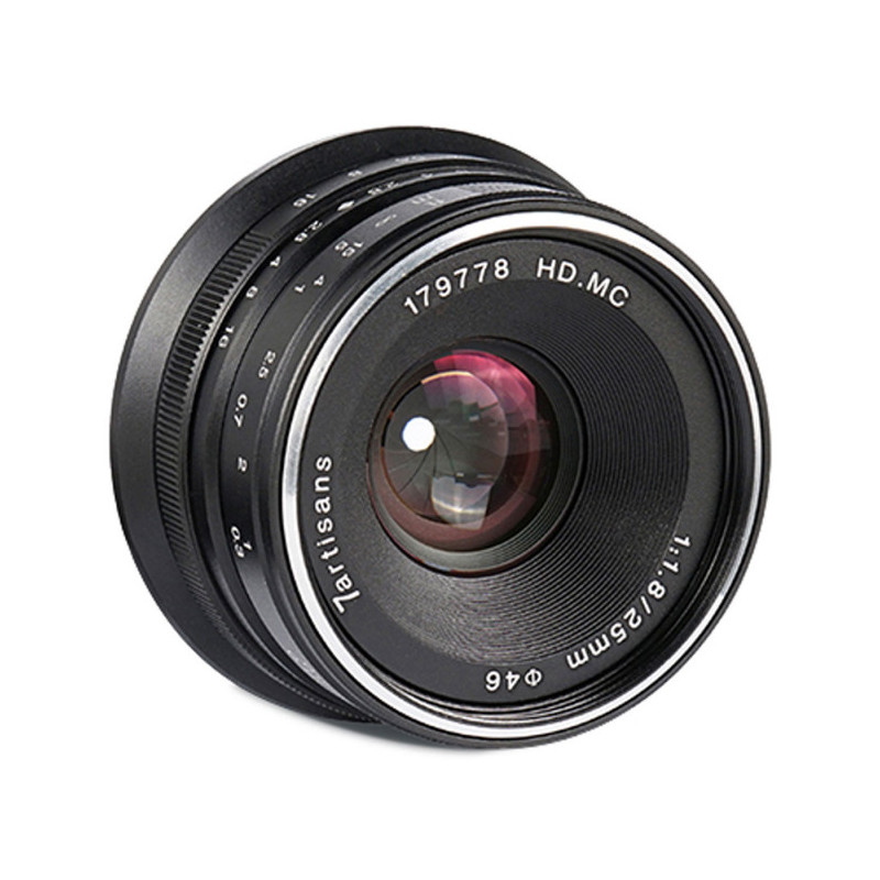 7Artisans 25mm f/1.8 objektiiv Canon EF-M