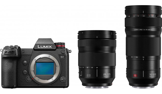 Panasonic Lumix DC-S1 + 24-105mm f/4 + 70-200mm f/4