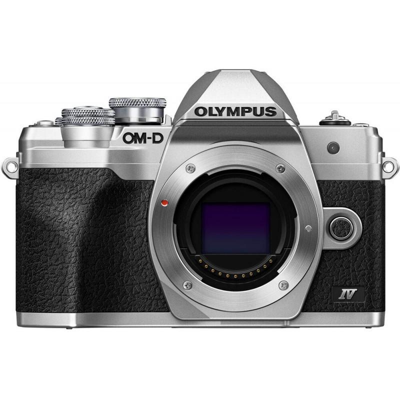 Olympus OM-D E-M10 Mark IV kere, hõbedane