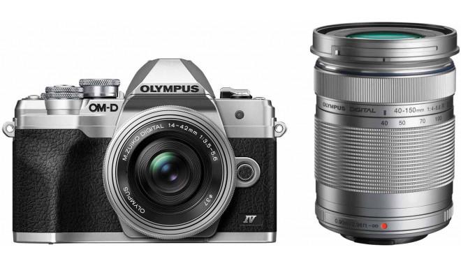 Olympus OM-D E-M10 Mark IV + 14-42 мм + 40-150 мм, серебристый