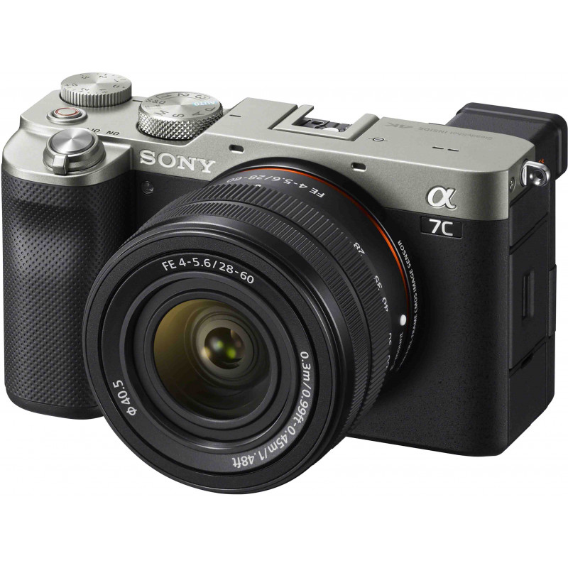 Sony a7C + 28-60mm Kit, hõbedane