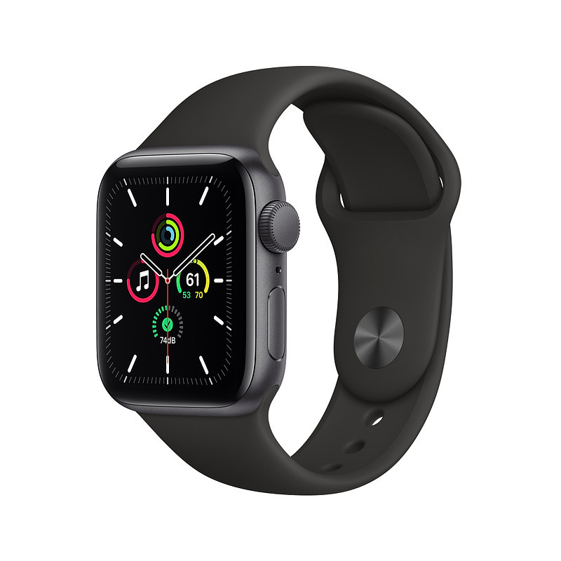 Apple Watch SE GPS 40mm Sport Band, space gray/black