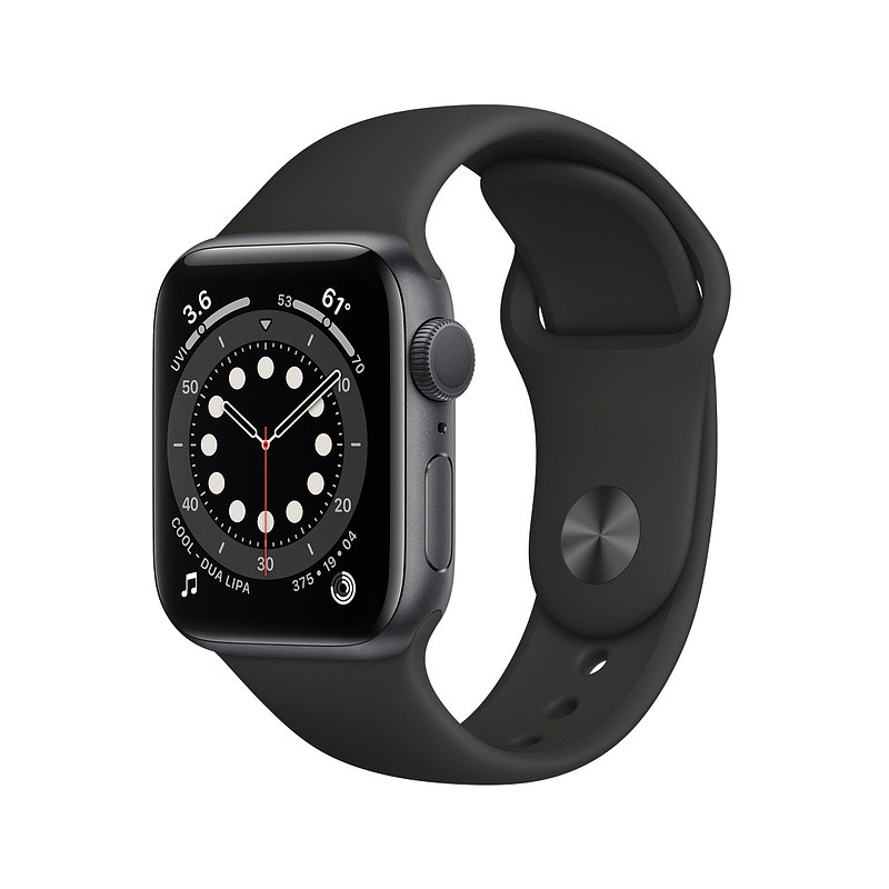 Apple Watch 6 GPS 40mm Sport Band, space gray/black