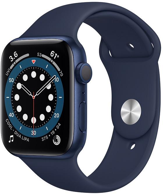 Apple Watch 6 GPS 44mm Sport Band, blue/deep navy