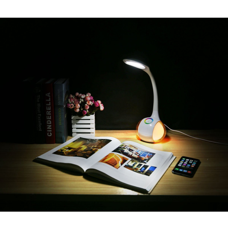 Platinet desk lamp with night light PDL20 7W (43130)
