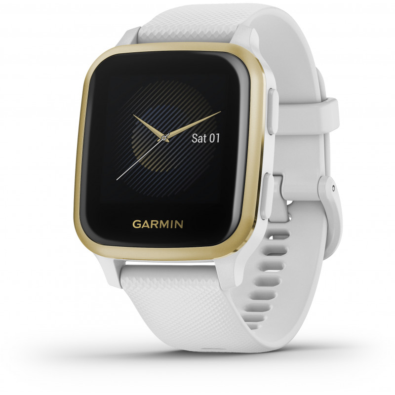 Garmin Venu Sq, white/light gold