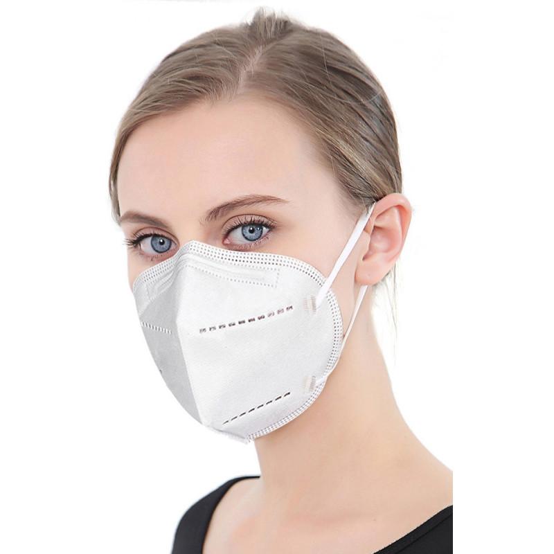 Platinet kaitsemask N95/FFP2, valge (45317)
