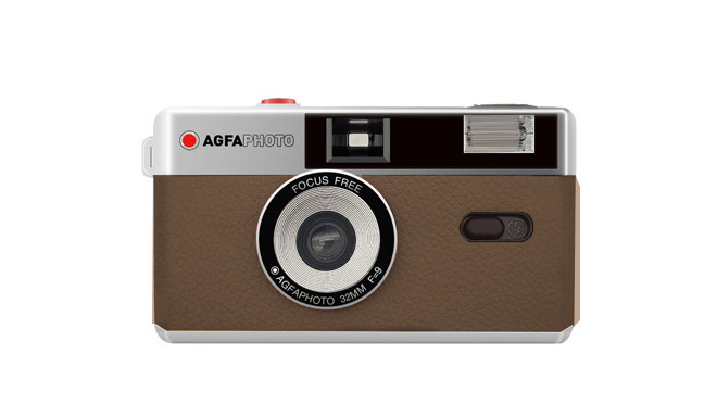 Agfaphoto analoogkaamera 35mm, pruun