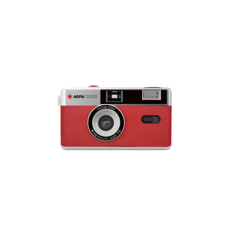 Agfaphoto analoogkaamera 35mm, punane