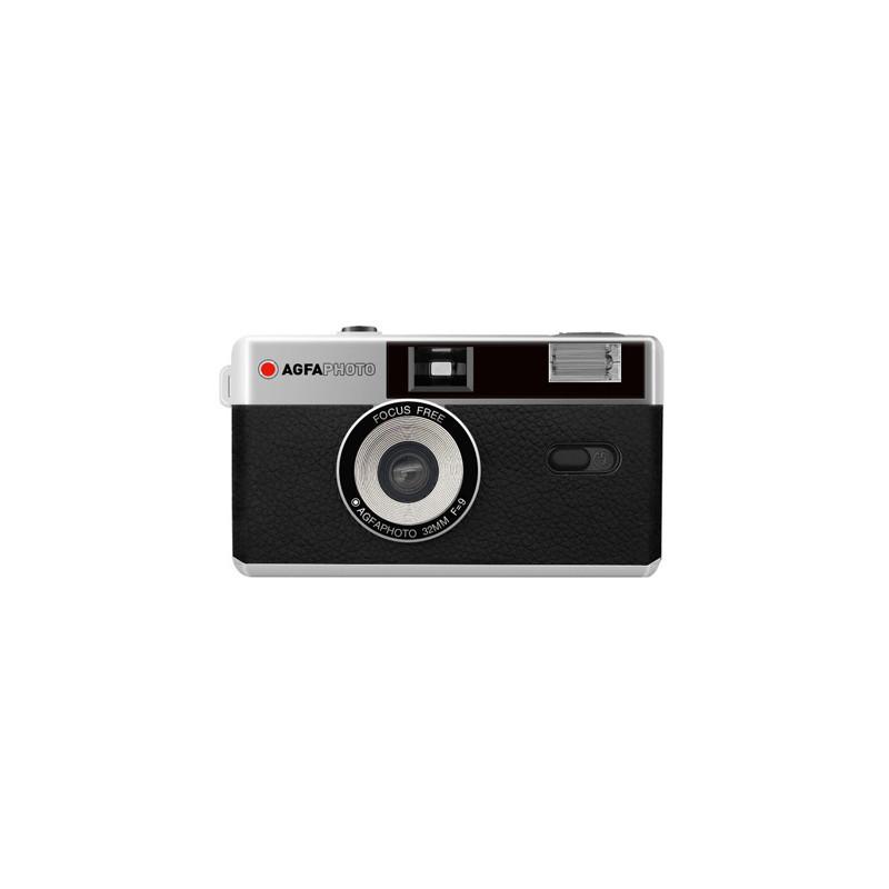 Agfaphoto analoogkaamera 35mm, must