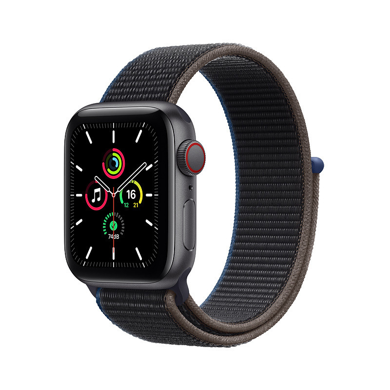 Apple Watch SE GPS + Cellular 40mm Sport Loop, space gray/charcoal (MYEL2EL/A)