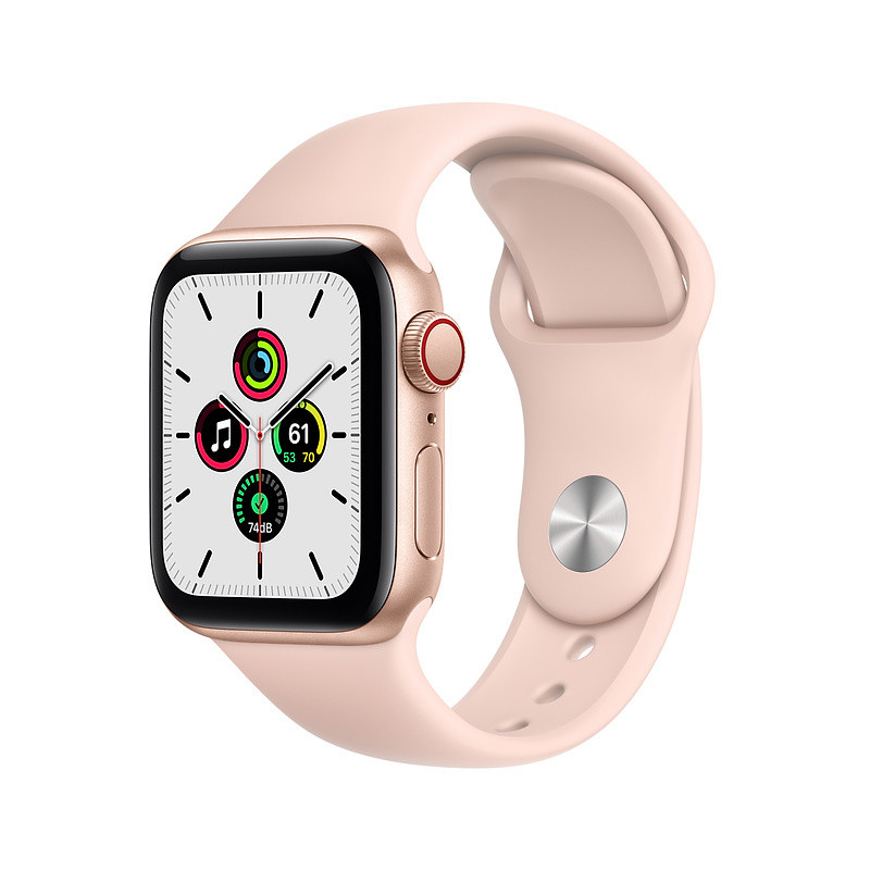 Apple Watch SE GPS + Cellular 40mm Sport Band, gold/pink sand (MYEH2EL/A)