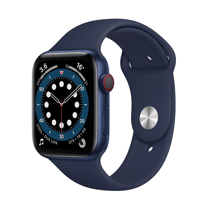 Apple Watch 6 GPS + Cellular 44mm Sport Band, blue/deep navy (M09A3EL/A)