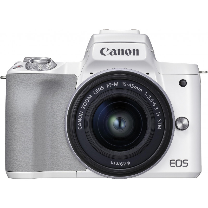 Canon EOS M50 Mark II + EF-M 15-45 mm, valge