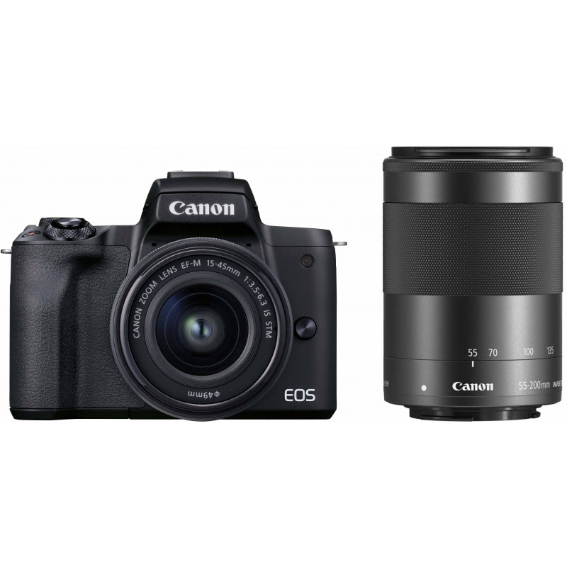 Canon EOS M50 Mark II + EF-M 15-45 mm + 55-200 mm, must