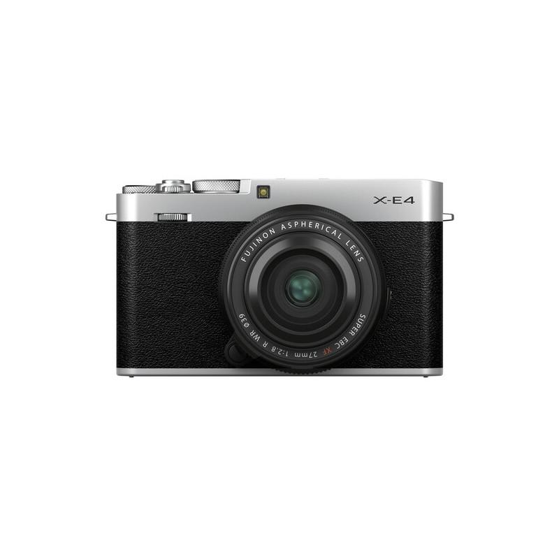 Fujifilm X-E4 + 27mm f/2.8 Kit, hõbedane
