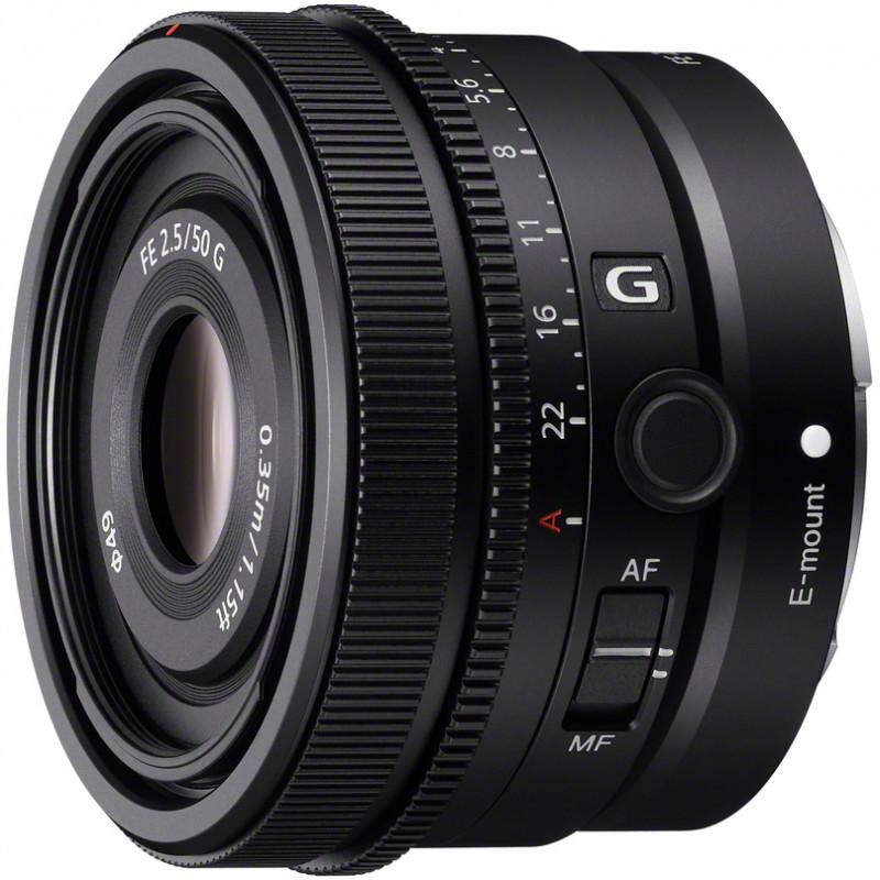Sony FE 50mm f/2.5 G objektiiv