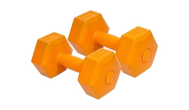 EB Fit гантели композит 2x2 кг, оранжевые