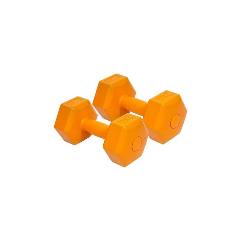 EB Fit hantlid komposiit 2x2kg, oranž