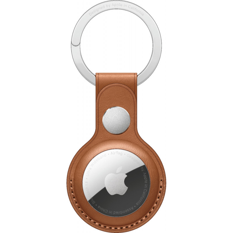 Apple AirTag Leather Key Ring, brown
