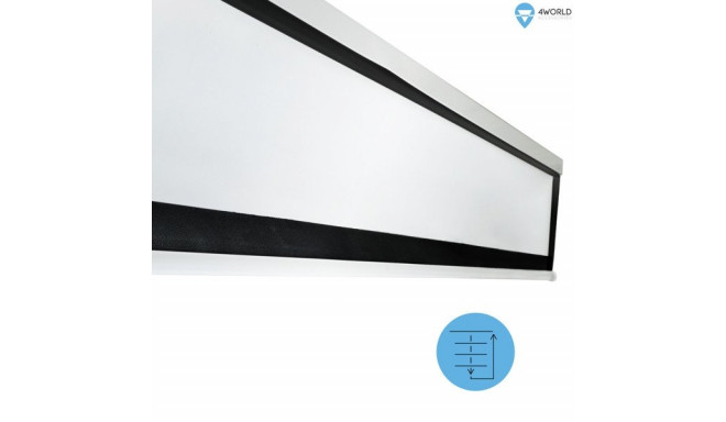 """4 World Electric Wall/Ceiling Projection Screen with Remote Control 240x134.5cm, 108"""" (16: 9) Matt W"""
