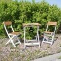 Мебель для балкона duo стол и 2 стyла, cкладной, дерево: ака.