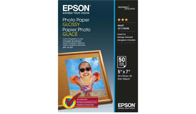 Epson fotopaber Glossy 13x18 200g 50 lehte