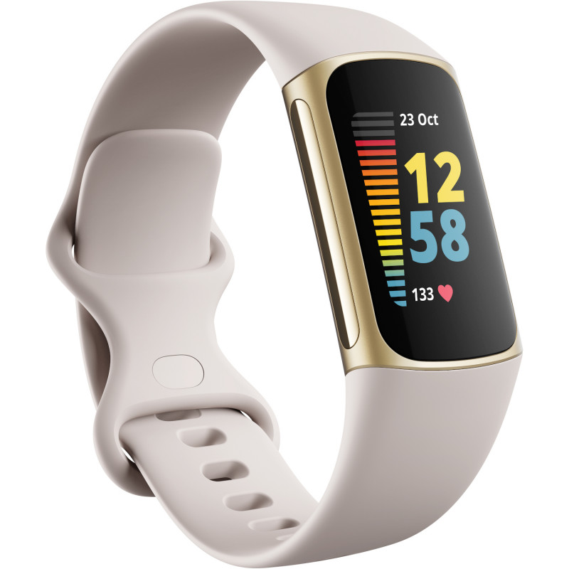 Fitbit Charge 5, lunar white/soft gold
