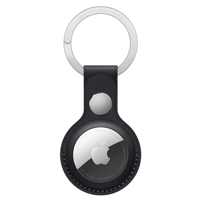 Apple AirTag ümbris Leather Key Ring, midnight