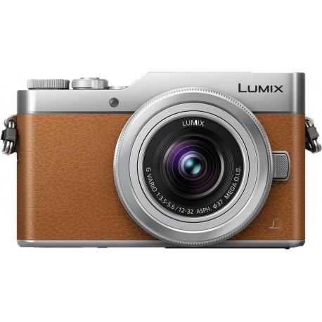 Panasonic Lumix DC-GX800 + 12-32мм Kit, коричневый