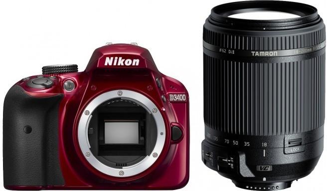 Nikon D3400 + Tamron 18-200mm VC, punane