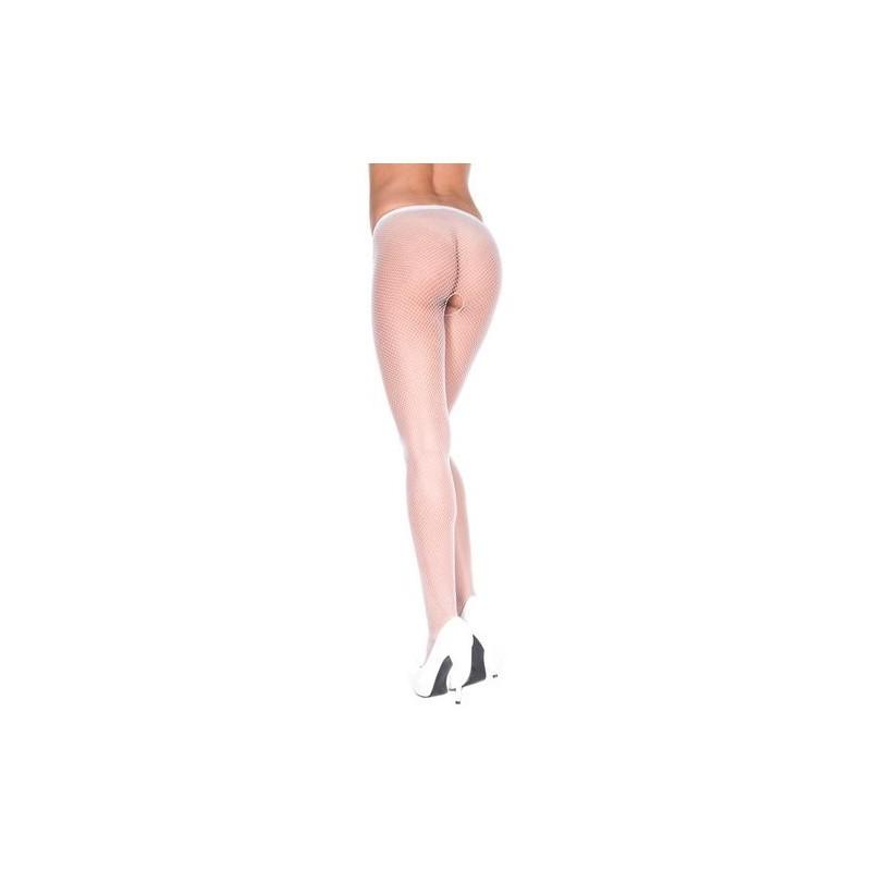 f9bc726c92c7e Crotchless fishnet pantyhose WHITE - Stockings & socks - Photopoint