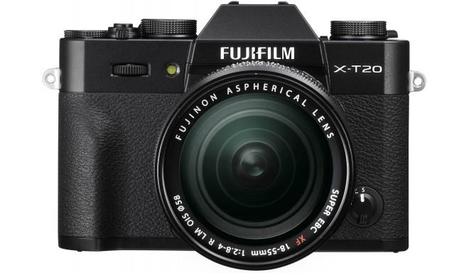 Fujifilm X-T20 + 18-55mm Kit, melns