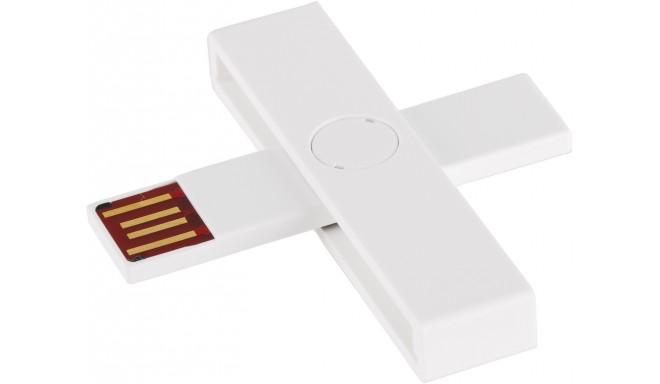 +ID smart card reader USB Blister, white