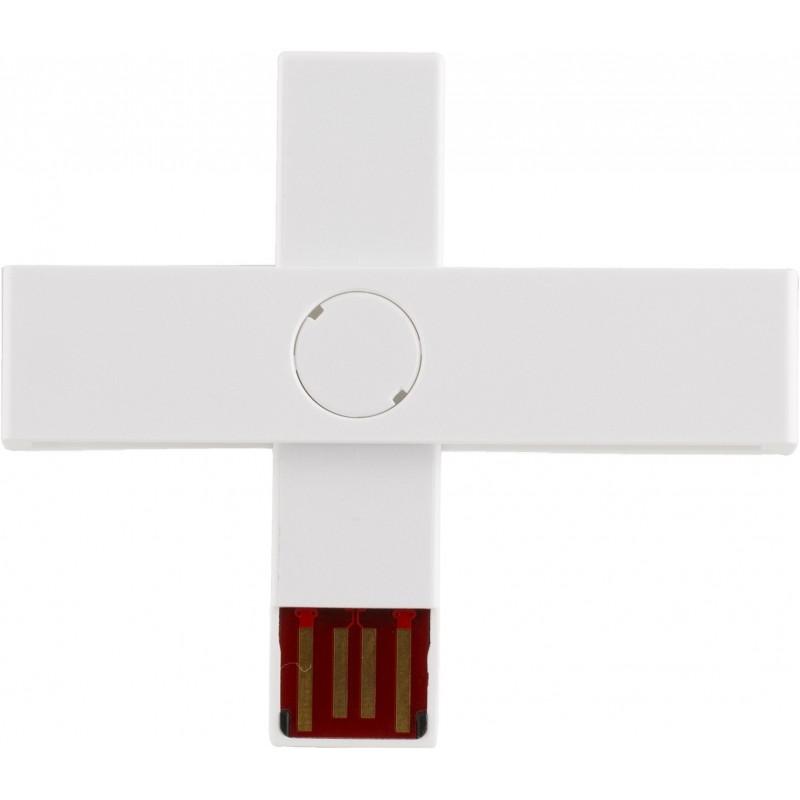 +ID ID-kaardi lugeja USB, valge