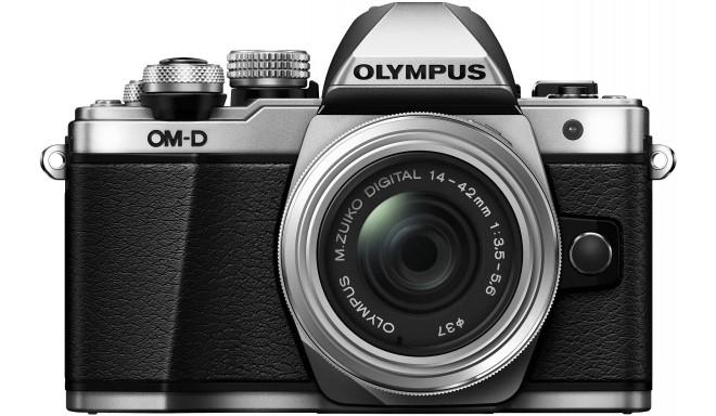 Olympus OM-D E-M10 Mark II + 14-42mm II R Kit, sudrabots