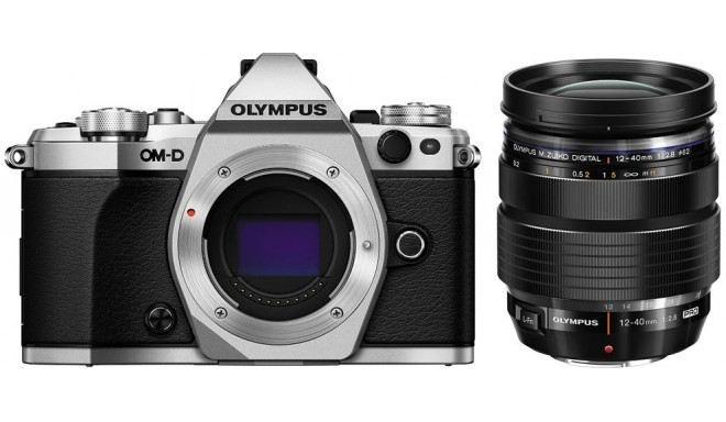 Olympus OM-D E-M5 Mark II + 12-40mm Pro Kit, sivler