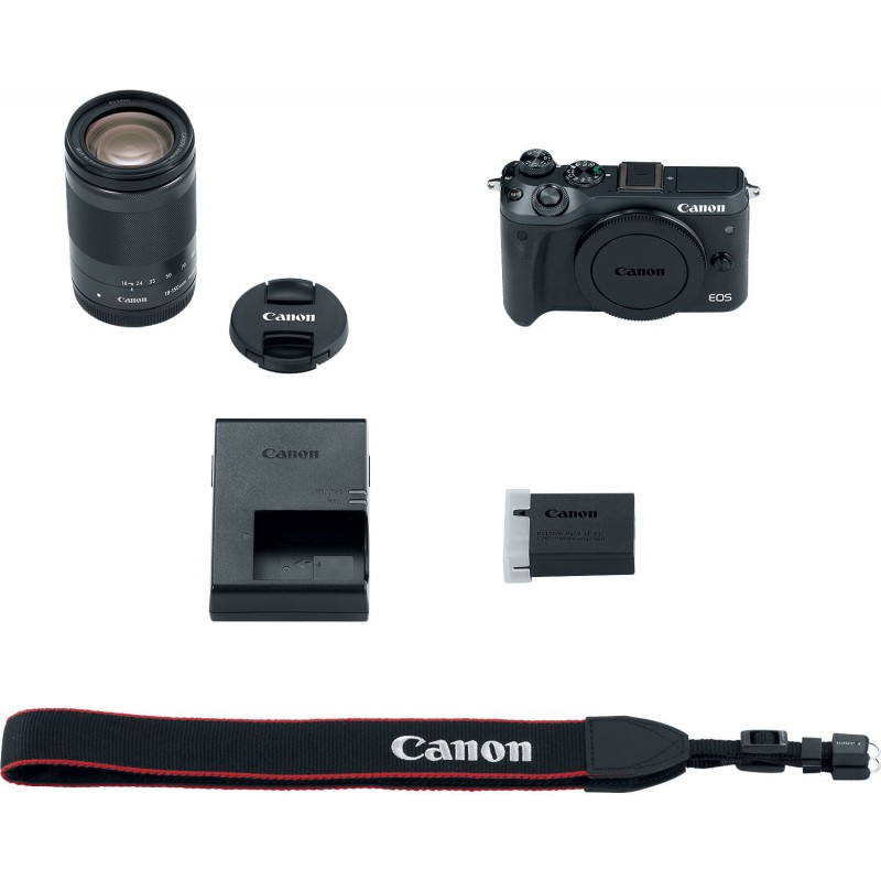 Canon EOS M6 + EF-M 18-150mm IS STM Kit, black