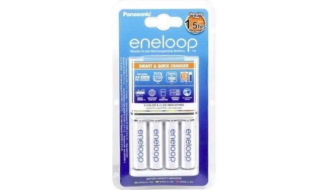 Panasonic eneloop charger BQ-CC55 + 4x1900