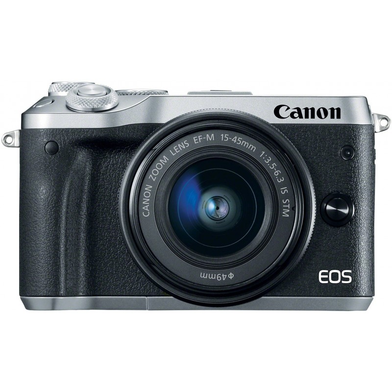 Canon EOS M6 + EF-M 15-45mm IS STM, silver