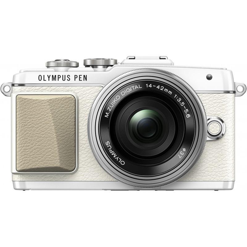 Olympus PEN Lite E-PL7 + 14-42 мм EZ Кит, белый/серебристый