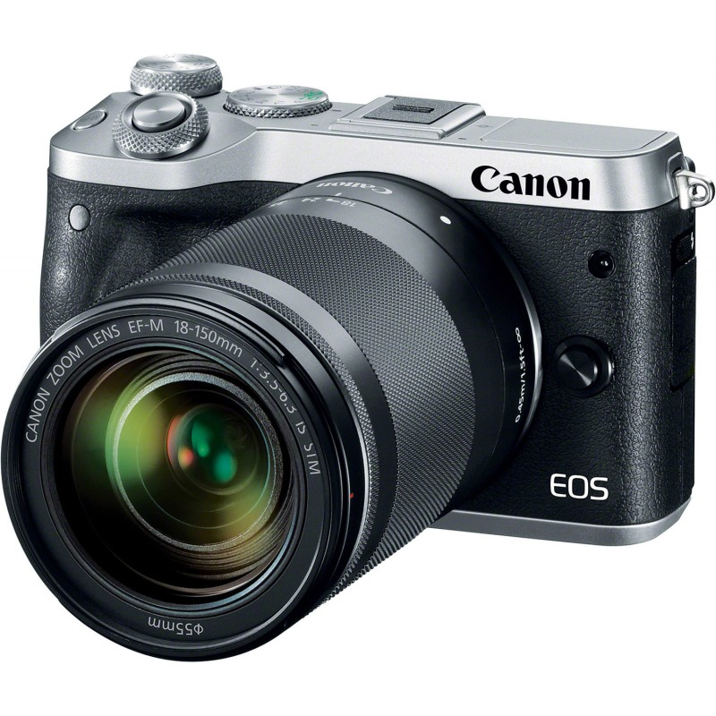 Canon EOS M6 + EF-M 18-150mm IS STM, silver