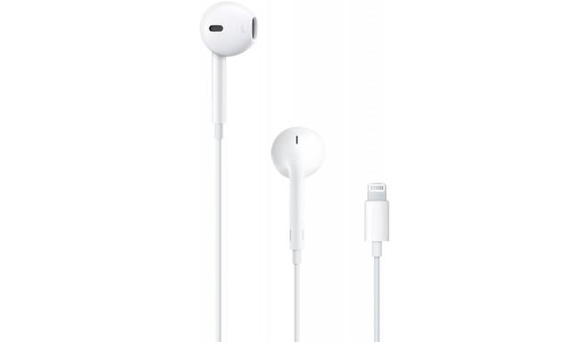 Apple austiņas + mikrofons EarPods Lightning (MMTN2ZM/A)