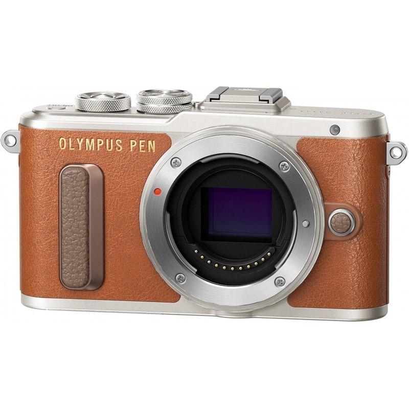 Olympus PEN Lite E-PL8 body, brown